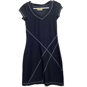 Lucy Tech Black Fitted Activewear Casual Dress